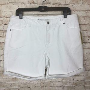NEW! Michael Kors white jean shorts